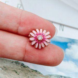 📿Pandora  Pink Daisy Flower Charm